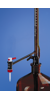 Titrierapp. SILBERBRAND o.Zw.-Hahn m.Fl., 25 ml:0,1 ml Boro braun seitl.H. PTFE- Titrierapparat,...