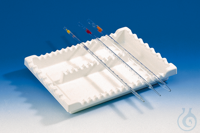 Pipette tray PVC f. small-vol. pipettes 355 x 300 x 45 mm, nine oblong dividers Pipette tray PVC...