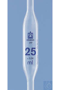 Vollpipette PP, 50ml, 1 Marke Vollpipette, PP, 50 ml, 1 Marke