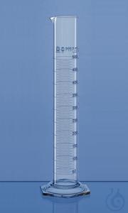 Grad.cyl. tall form BLAUBRAND A USP DE-M 10 ml: 0,2 ml, Boro 3.3 Graduated cylinder, USP, tall...
