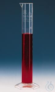 Messzylinder, hohe Form, 10 ml: 0,2 ml, PMP, erhab. Grad. Messzylinder, hohe Form, 10:0,2 ml,...