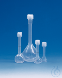 Volumetric flask PFA cl. A 100 ml, GL 18, with screw cap