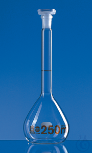 Vol. flask BLAUBRAND-ETERNA A DE-M 100 ml, Boro 3.3, NS 14/23, PP-stopper Volumetric flask,...