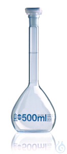 Vol. flask BLAUBRAND class A DE-M 5000 ml, Boro 3.3, NS 34/35, PE-stopper Volumetric flask,...
