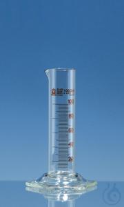 Grad. cylinder low f. SILBERBRAND-ETERNA 1000 ml:20 ml, Boro 3.3, grad. in amber Graduated...