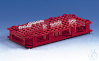 Microcentrifuge tube rack PP 265x126x38 mm f.84 t.to dia. 13 mm blue Microtube rack, PP, 265 x...