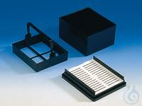 Objektträgerbehälter f. Färbetrog, POM Behälter allein Objekttträger-Behälter für Färbetrog,...
