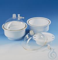 Desicc./lid PC, base/desiccant tray PP nom. size 200 mm, with venting stopper Desiccator/lid PC,...