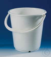 Bucket, PE-HD, without lid and spout 5 l h. 240 mm w. graduation and handle Bucket, PE-HD, w/o...