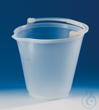 Bucket, PP, without lid, with spout 12 l h. 300 mm reinforced rim and handle Bucket, PP, w/o lid,...