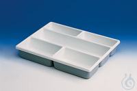 Tidy tray with compartments, PVC 5 compartments, 402 x 302 x 60 mm Tidy tray with compartments,...