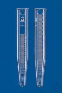 Centrifuge tube, Boro 3.3, approx. 15 ml conical, beaded rim, grad.white, 0-15 m Centrifuge tube,...