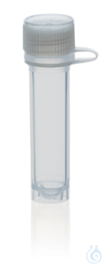 Microtube PP, attached screw cap PE 2,0 ml, selfstanding, non-ster., ungrad. Microtubes (PP) with...