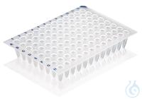 PCR-Platte, 96-well, ohne Rahmen Standardprofil, weiß, VE=50 St. PCR-Platte, 96-well, ohne...