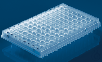 96-well PCR plate, thin-walled, flexible half skirt, elev.wells, 50 pcs. 96-well PCR plate,...