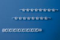 8er-Strips PCR-Deckel, farblos, für qPCR flach, f. 781377/-78, 25 Beu./12 Strips 8er PCR...