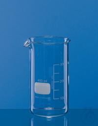 Becher, hohe Form, Boro 3.3 50 ml, mit Teilung und Ausguss Becher, hohe Form, 50 ml, Boro 3.3,...