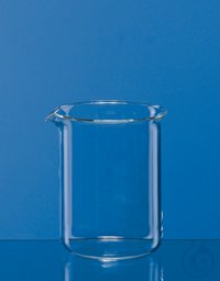 Becher, niedrige Form, Boro 3.3 10 ml, ohne Teilung, mit Ausguss Becher, niedrige Form, 10 ml,...