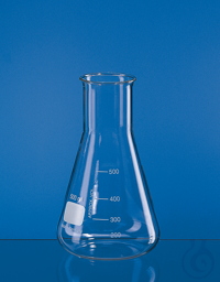Erlenmeyer flask, wide neck, Boro 3.3 1000 ml, with beaded rim and graduation Erlenmeyer flask,...
