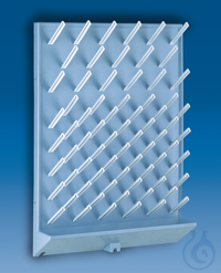 Draining rack, PS, light grey 450 x 630 mm, 72 pegs, dia. 16 mm Draining rack, PS, light grey,...
