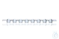 PCR-Deckel, 8er, für PCR-Gefäße farblos, gewölbt, VE = 125 Strips 8er Deckelstreifen, gewölbt,...