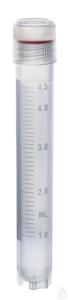 Kryoröhrchen PP y-steril Schraubd. PP 5 ml m. A-Gew. 12,5x90 mm m. Standring Kryoröhrchen, 5 ml,...