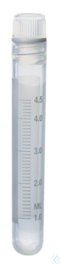 Kryoröhrchen PP y-steril Schraubd. PP 5 ml m. I-Gew. 12,5x90 mm o. Standring Kryoröhrchen, 5 ml,...
