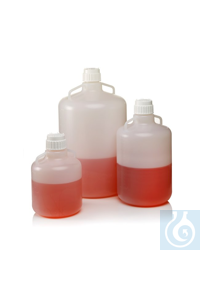 Nalgene™ Autoclavable Carboys Polypropylene Carboy w/Handles 83B 20L Case of 4...
