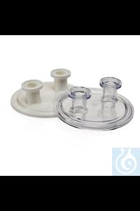 Nalgene™ Endkappen Two 0.75 in. (19mm) sanitary ports, polycarbonate Case of...