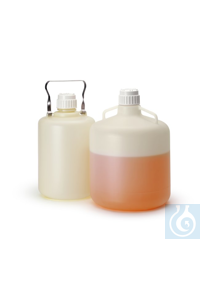 2artículos como: Nalgene™ Single-Use HDPE Carboy 83B 20L Case of 6 Nalgene™...