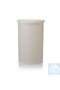 Nalgene™ Lightweight Graduated Cylindrical LLDPE Tank with Cover 10 gal., 37.9L Each...