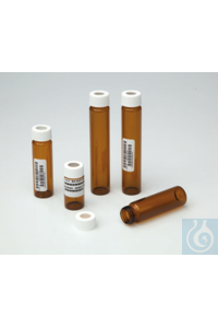 I-Chem™ Amber VOA Glass Vials with 0.125in. Septa Case of 144 Certified...
