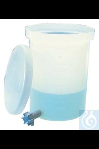 Nalgene™ Leichter zylindrischer LLDPE-Tank mit Deckel und Hahn Each 10 gal., 37.9L Nalgene™...