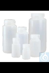 Nalgene™ LDPE-Weithalsflaschen mit Verschluss 250ml Case of 72 43mm Nalgene™...