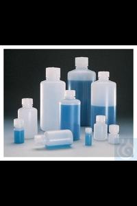 Nalgene™ HDPE-Enghalsflaschen in Laborqualität mit Verschluss 500ml Case of 48 38 bis 430mm...