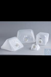 LDPE Cubitainers™ mit Verschluss mit Einlage aus LDPE-Schaum 4L Case of 12...