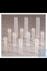 Nalgene™ Natural PPCO Micro Packaging Vials: Nonsterile, Bulk Pack 13mm 0.5 mL Case of 1000...