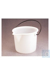 Nalgene™ Graduated HDPE Bucket 2.5 gal. 9.5L Case of 6 Nalgene™ Graduated HDPE Bucket...