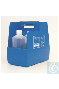 Nalgene™ 4-in-1 EZ Tote™ Bottle Carrier 4-in-1 EZ Tote TM HDPE Blue 13L x 8W x 13.5H...