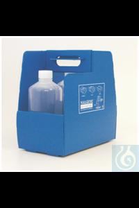 Nalgene™ 4-in-1 EZ Tote™ Tragekorb; aus gewelltem Kunststoff, blau 4-in-1 EZ Tote TM...