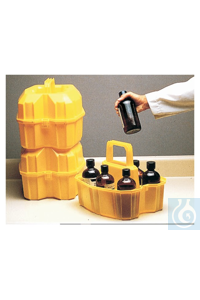 Nalgene™ 500mL LLDPE Safety Bottle Carrier Carrier Safety Bottle LDPE...