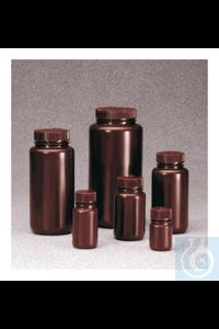 Nalgene™ braune HDPE-Weithalsflaschen in Laborqualität 125ml Case of 72 38mm Nalgene™ braune...