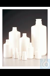 Nalgene™ Boston Round Opaque White HDPE Bottles without Closure: Bulk...