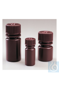 Nalgene™ Opaque Amber HDPE Diagnostic Bottles with Closure: Nonsterile,...