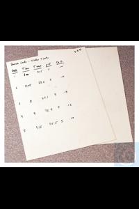 Nalgene™ PolyPaper™-Kunststoffpapier 8,5 x 11 Zoll mit 6mm...