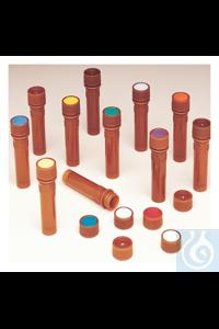 Nalgene™ PPCO Amber Micro Packaging Vials: Nonsterile, Bulk Pack 11mm 0.5 mL Case of 1000...