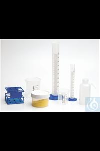 Nalgene™ Plastic Labware Value Pack 6 Straight-sided jars (500mL/PPCO)...