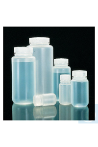 Nalgene™ PPCO-Weithalsflaschen mit Verschluss in Laborqualität 1l Case of 24 63mm Nalgene™...
