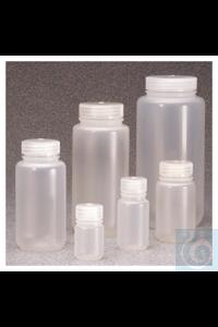 Nalgene™ Economy PPCO-Weithalsflaschen mit Verschluss 250ml Case of 72 43mm...