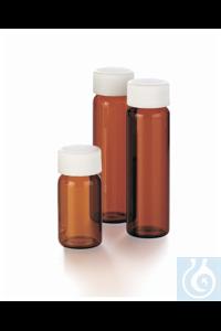 I-Chem™ Amber VOA Glass Vials with Closed-Top Cap Case of 72...